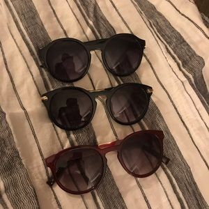 Set of three sunglasses from Anthropologie